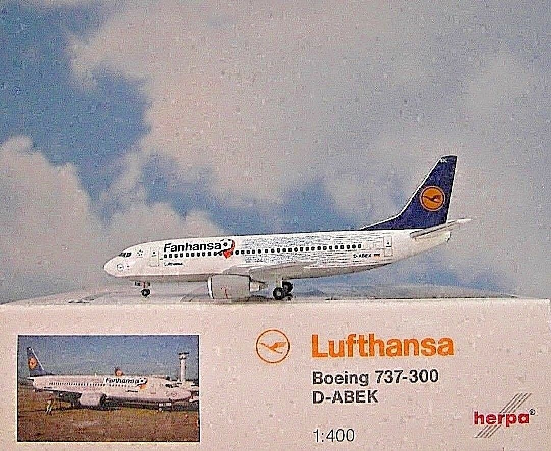 Herpa Wings 1 1 1 400  Boeing 737-300 Lufthansa Fanhansa D-ABEK  562546 5cbbcb