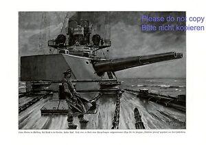 Panzerkreuzer-in-Nordsee-XL-Druck-1915-Hassenkamp-Kriegsschiff-Kanone-WW-WK-1