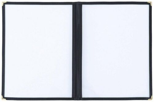 """2 Page 10 Pack 4 View Restaurant Menu Covers//Fits 8 1//2/"""" x 11/"""" Paper"""