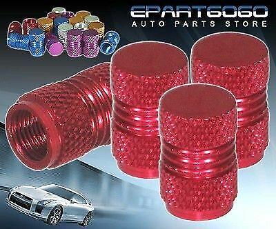 For Nissan Aluminum Red Anodized Wheel Valve Stem Valve Caps Tires//Rims