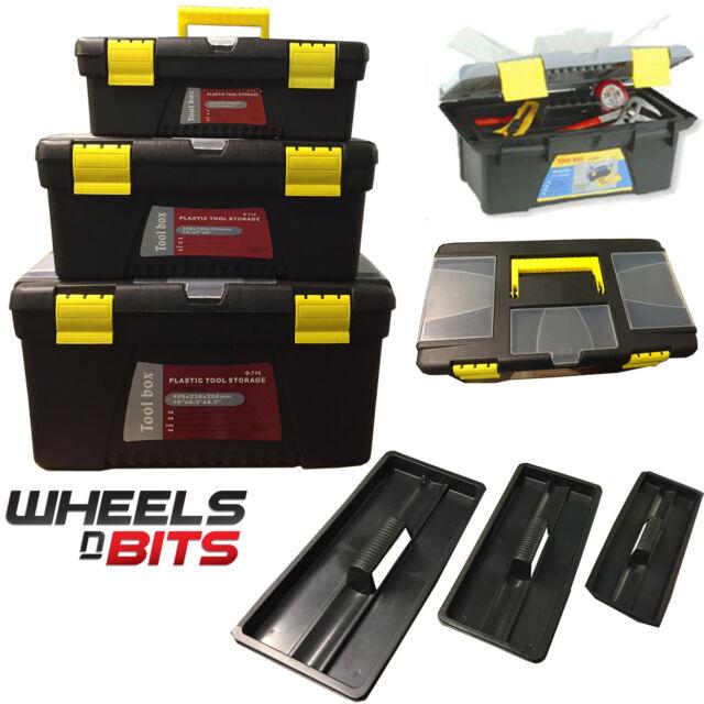 Nuevo 3 Plastic Herramienta Cajas Set Manillar Cubeta & Compartimento