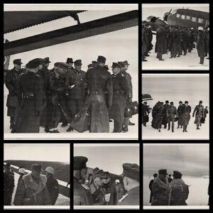 Serie-Deutsche-Generaele-landen-mit-der-Ju-52-6-Orig-Photos-um-1940