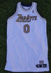 cozy fresh 4a68a d5561 Details about Gilbert Arenas Washington Wizards NBA Chicago Zephyrs  Throwback Adidas Jersey 0