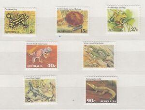 Australia-1982-Reptiles-Amphibians-Set-SG781-787-Mint-MNH-X9262