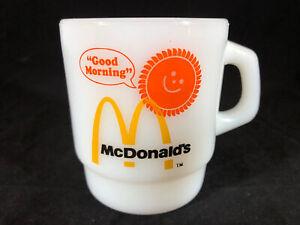 Vintage Fire King McDonalds Good Morning Milk Glass Anchor Hocking Mug Cup USA