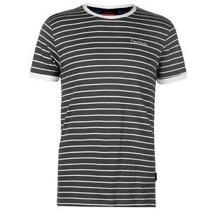 Pierre-Cardin-Hombre-Stripe-Ringer-Camiseta-Cuello-Redondo
