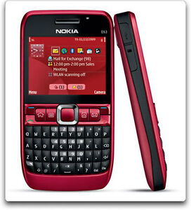 Nokia-E63-QWERTY-Keypad-RED-Imported