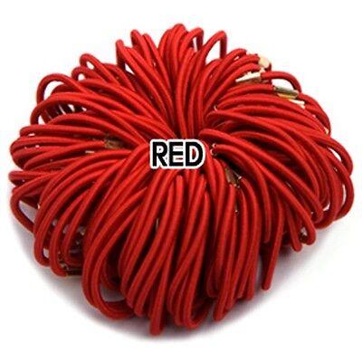 3mm Color Elastic Ponytail Holders w/ metal clamp Hair accessories Hair Ties lot