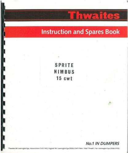 THWAITES DUMPER SPRITE /& NIMBUS 15cwt PARTS MANUAL