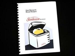 sunbeam oster bread maker machine directions instruction manuals rh ebay com Sunbeam 5891 Manual in English Sunbeam Bread Maker Directions