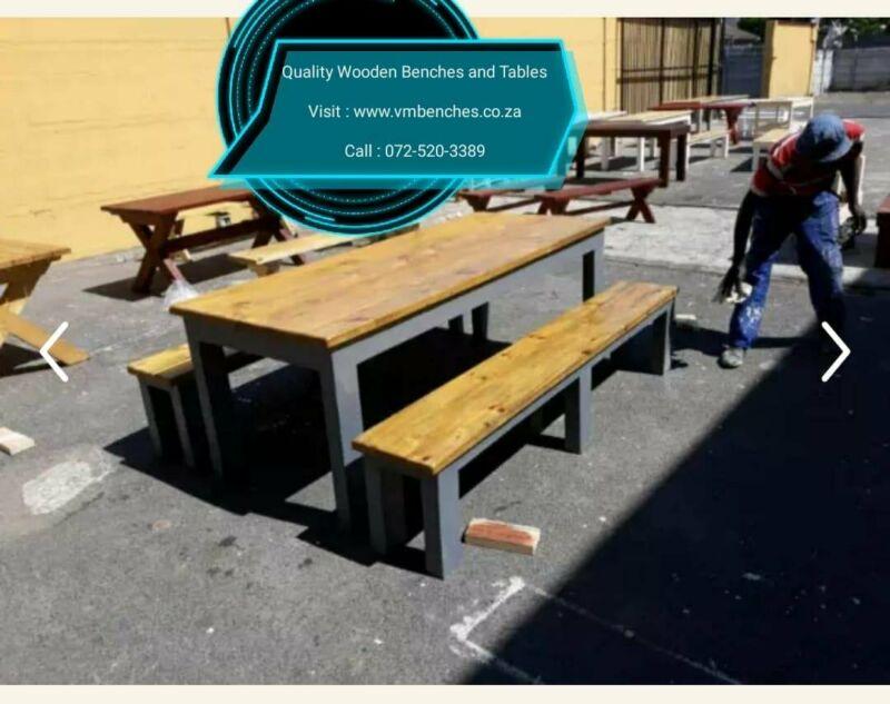 PATIO TABLES and BENCHES.... www.vmbenches.co.za