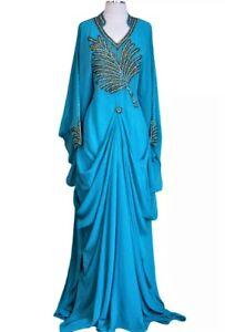 MOROCCAN-DUBAI-KAFTANS-ABAYA-DRESS-VERY-FANCY-LONG-GOWN-MS-101