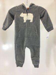 a9dd15f18 CARTER S INFANT BOYS POLAR BEAR FLEECE JUMPSUIT HEATHER FLEECE 12M ...