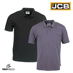 JCB-Essential-Heavyweight-Mens-Short-Sleeve-Polo-Shirt-Work-Top-T-Shirt-New