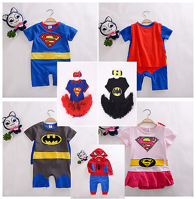 Superhero Toddler Baby Boy Romper Costume Outfit Sleepsuit Jumpsuits Fancy Dress