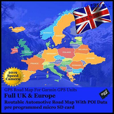 Latest UK /& Ireland Map 2019 for Garmin GPSs