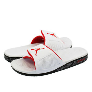 c4dba8b55 Nike Air Jordan Hydro III 3 Retro White Red Black Slides SZ 8 ...