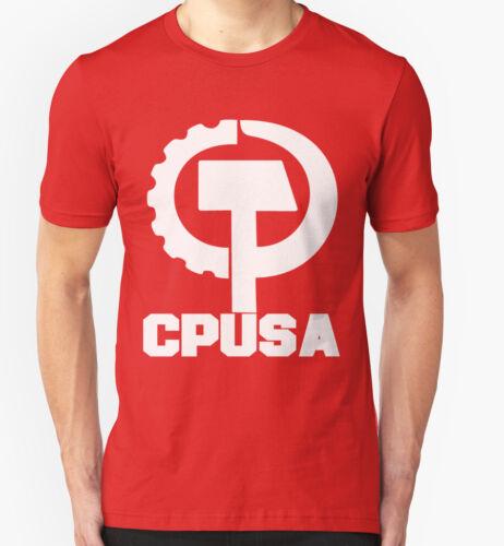 CPUSA T SHIRT COMMUNIST PARTY AMERICA USA POLITICAL