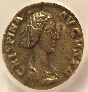 178 Ad Crispina Silver Denarius Lcgs 20 Ric 282. Historique Roman Coin.-afficher Le Titre D'origine Ventes De L'Assurance Qualité