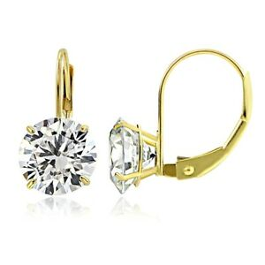 14K-Yellow-Gold-2-50-CTTW-Cubic-Zirconia-Round-Leverback-Earring-7mm