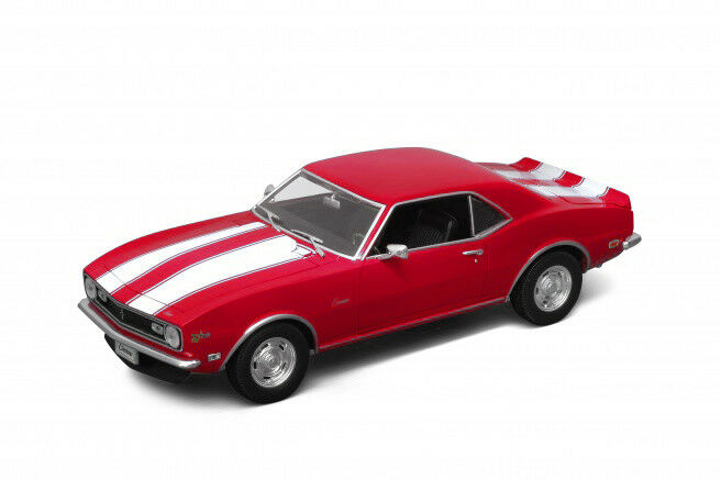 WELLY DIECAST DW12553R 1 18 1968 CHEVROLET CAMARO Z28 (RED)