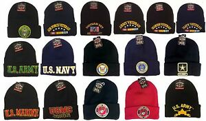 Image is loading Licensed-US-Army-Beanie-Military-Embroidered-Logo-Knit- 770720c109a