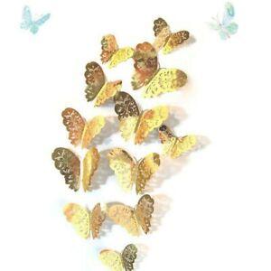 12-Pz-3D-Farfalla-Adesivi-da-Parete-Porta-Finestra-Decalcomania-Casa-Decorazione
