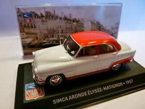 SIM12F altaya IXO 1//43 SIMCA ARONDE Elysée-Matignon 1957 bicolore