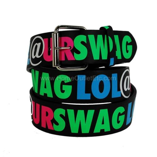 LOL @ UR SWAG Printed Leather Belt Laugh Out Loud At Your Urban Funny Odd Future