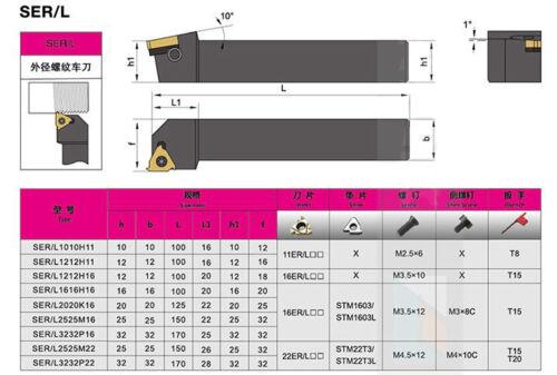 SEL 2525M16 25x150mm Lathe Turning Tool Holder For 16ER insert