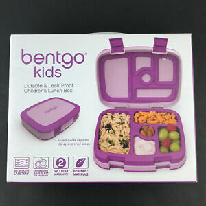 Bentgo Kids Lunch Bento Box Leak Proof Durable Compartments Purple New HG55