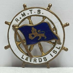 Burns /& Laird line MV Lion ship wheel enamel badge