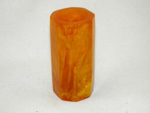 VINTAGE  LAVA FLOW CATALIN BAKELITE VASE dark caramel color
