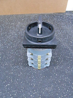 SALZER S225 US1A4746-00 35 AMP 600 VAC 12 TERMINAL 2 POSITION ROTARY CAM SWITCH