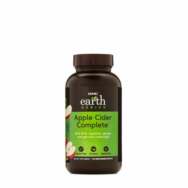 Gnc Earth Genius Apple Cider Complete 90 Vegetarian Caplets For