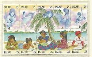 Palau-1989-Literacy-Strip-of-5-stamps-Complete-MUH-MNH-as-Issued
