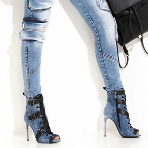 By-Alina-Mexton-Jeans-Stilettos-Peep-Toes-High-Heels-Pumps-Stiefel-36-39