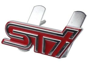 Subaru-STI-3D-Metal-Front-Grill-Badge-RED-WRC-for-BRZ-WRX-Impreza-Forester