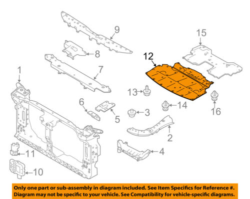 Infiniti NISSAN OEM Q50 Splash Shields-Under Engine Radiator Cover 758926HB0A