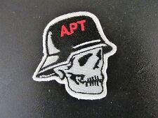 Patch Black and White Skull Wearing Helmet APT Jacket Club Shirt Sew On