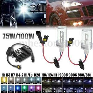 2x-H1-H3-H7-H8-H9-H11-9005-9006-880-881-75W-100W-HID-Xenon-Light-Bulbs