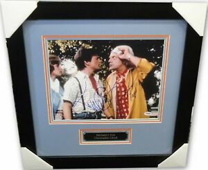 Michael-J-Fox-Christopher-Lloyd-Signed-Auto-11x14-Photo-Back-to-the-Future-PSA