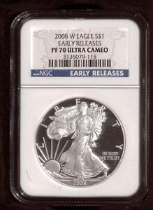 2008-W American Silver Eagle Proof NGC PF70 UCAM