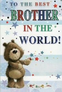"""BROTHER BIRTHDAY GREETING CARD 9"""" BY 6"""" FREE P+P"""