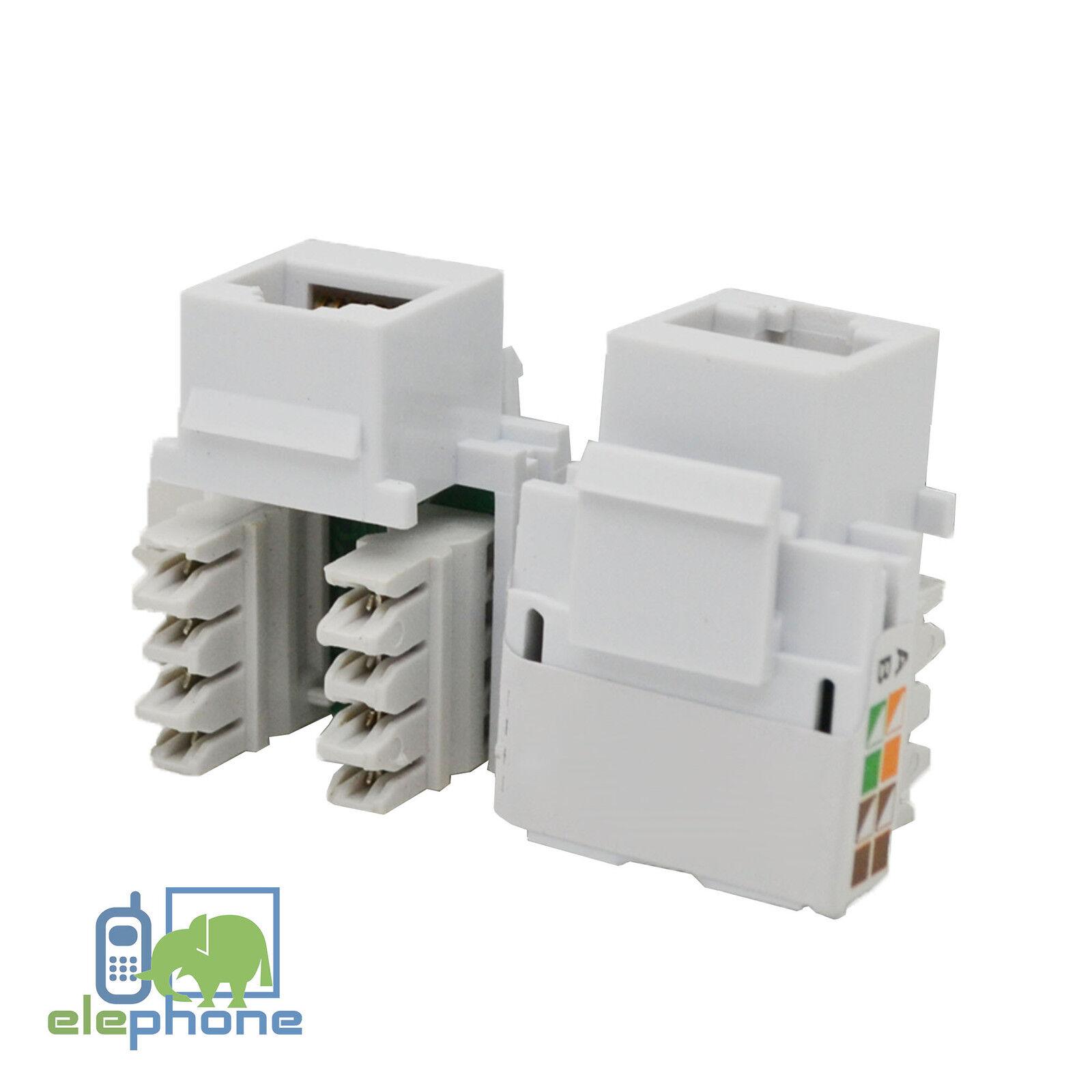 Rj45 Cat5e Ethernet Network Module Keystone Jack For Wall Face Plate Multi Lot