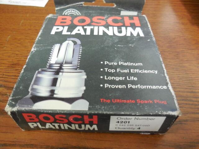 FR7DPX Bosch PLATINUM Spark Plugs 4201 Pack of 4