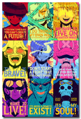 One Piece Motivational Quotes Anime Art Silk Poster Print 13x20 24x36 inches 008