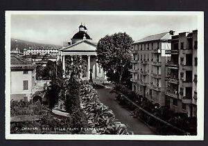CHIAVARI-GENOVA-CARTOLINA-VIALE-DELLE-PALME-E-CATTEDRALE-FP-VG-1963-C-G-C