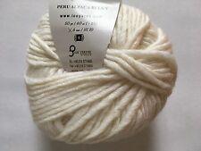 Peru Alpaca Bulky Yarn Ivory White #48702 Ice 50g Merino Wool Alpaca Acrylic