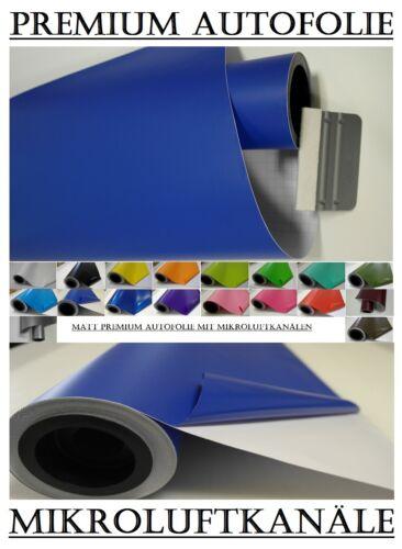 2000x152cm Königs Blau Matt Autofolie mit Anleitung blasenfrei 3,95€//m²